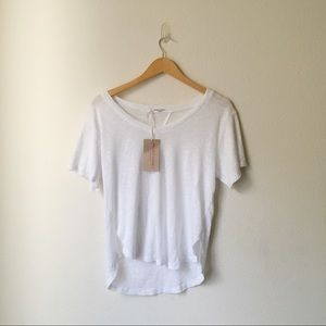 NWT   project social t • white textured v neck